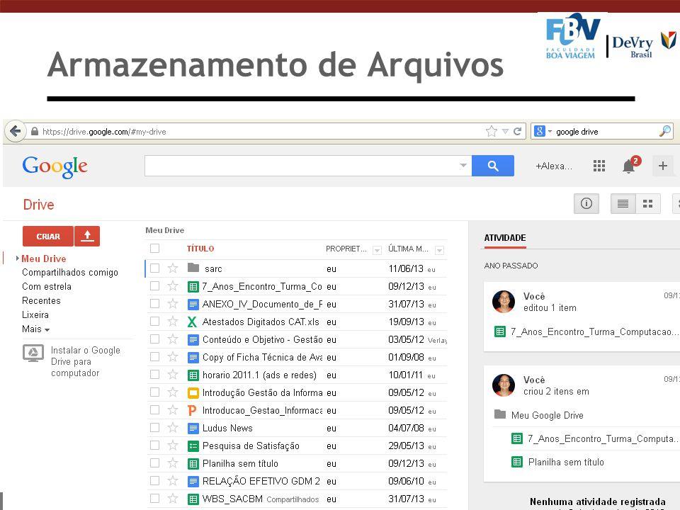 Armazenamento de Arquivos n Google Drive