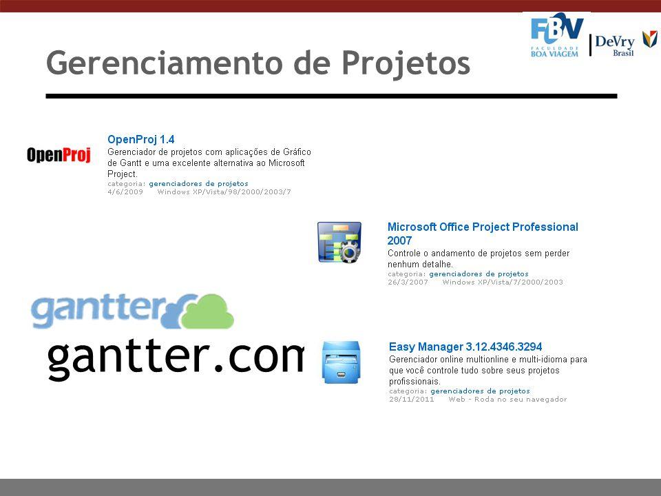 Gerenciamento de Projetos gantter.com