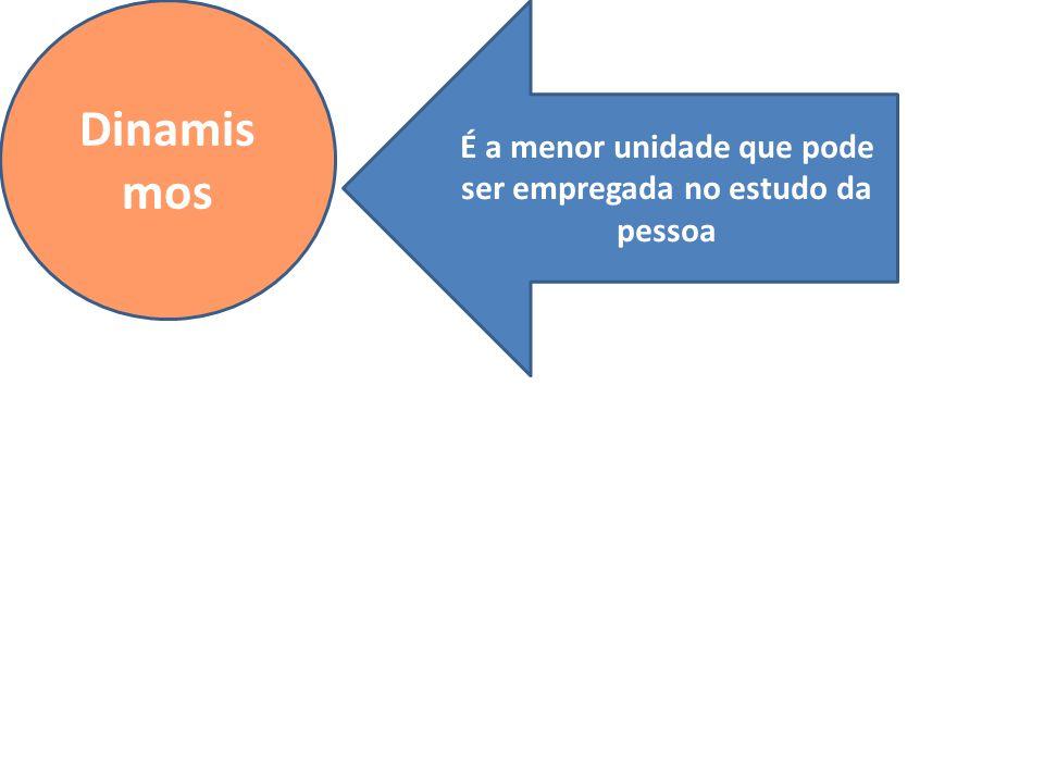 Dinamis mos É a menor unidade que pode ser empregada no estudo da pessoa