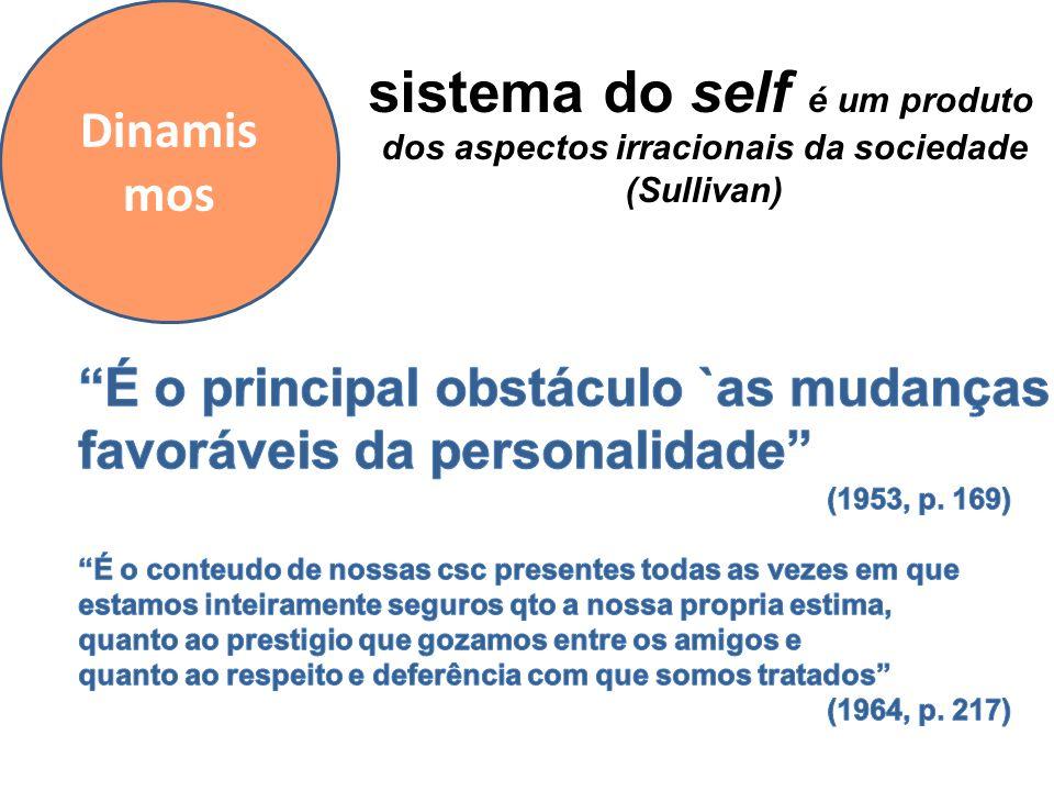 Dinamis mos sistema do self é um produto dos aspectos irracionais da sociedade (Sullivan)