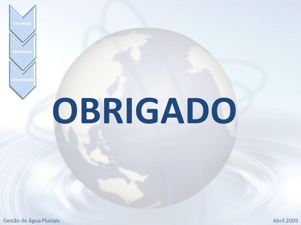 Gestão de Água PluviaisAbril 2009 Concretização Abordagem Introdução OBRIGADO