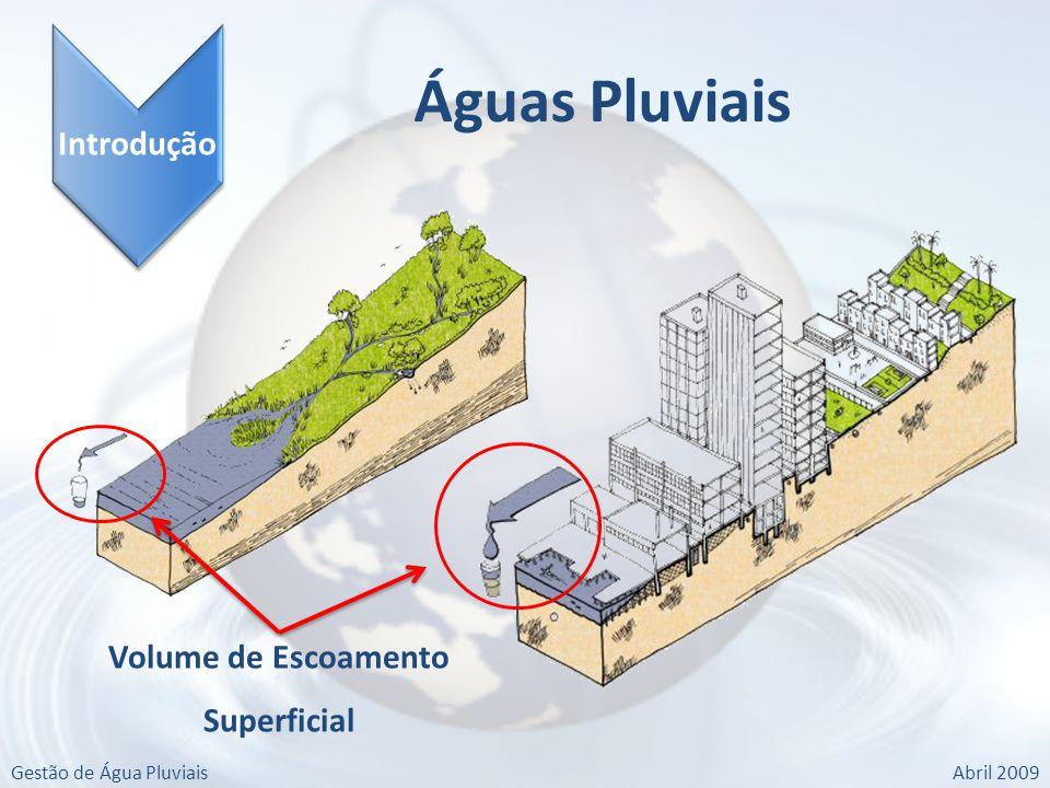 Gestão de Água PluviaisAbril 2009 Introdução Águas Pluviais Volume de Escoamento Superficial