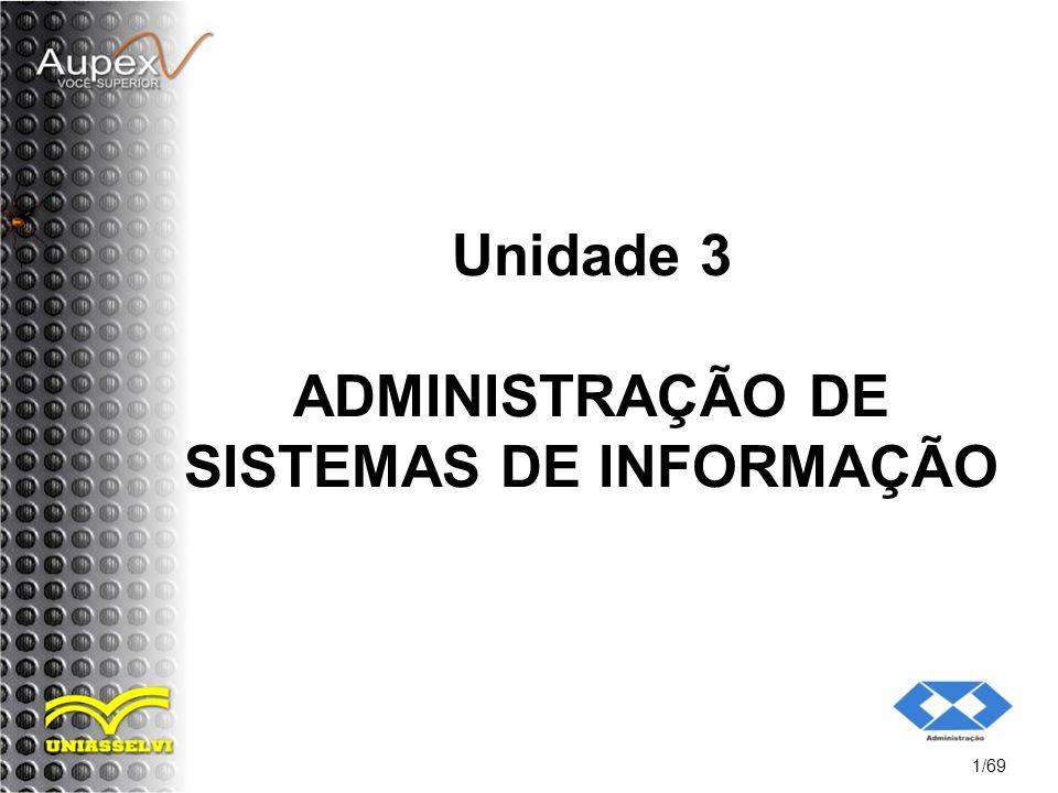 Unidade 3 ADMINISTRAÇÃO DE SISTEMAS DE INFORMAÇÃO 1/69