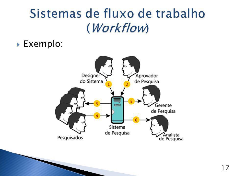  Exemplo: Sistemas de fluxo de trabalho (Workflow) 17