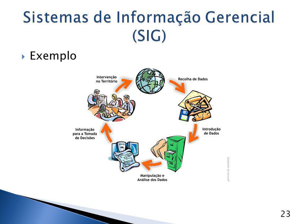  Exemplo Sistemas de Informação Gerencial (SIG) 23