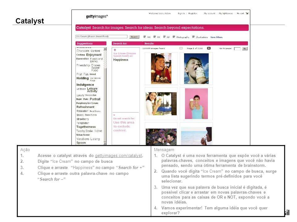 Ação 1.Acesse o catalyst através do gettyimages.com/catalyst.