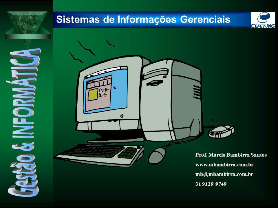 Sistemas de Informações Gerenciais Prof. Márcio Bambirra Santos www.mbambirra.com.br mb@mbambirra.com.br 31 9129-9749