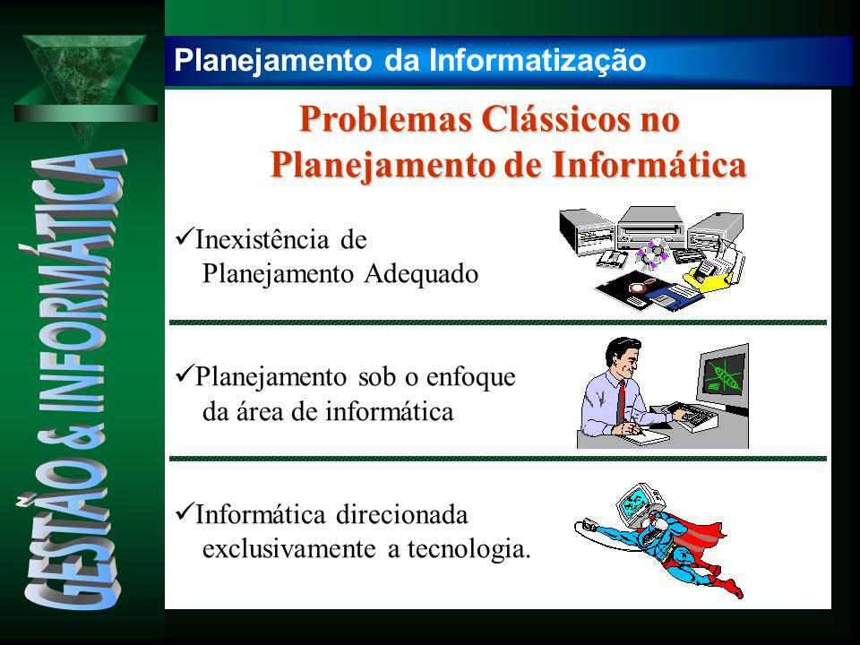 Problemas Clássicos no Problemas Clássicos no Planejamento de Informática Planejamento de Informática Inexistência de Planejamento Adequado Planejamen
