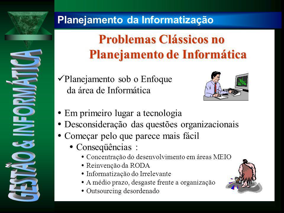 Problemas Clássicos no Problemas Clássicos no Planejamento de Informática Planejamento de Informática Planejamento sob o Enfoque da área de Informátic