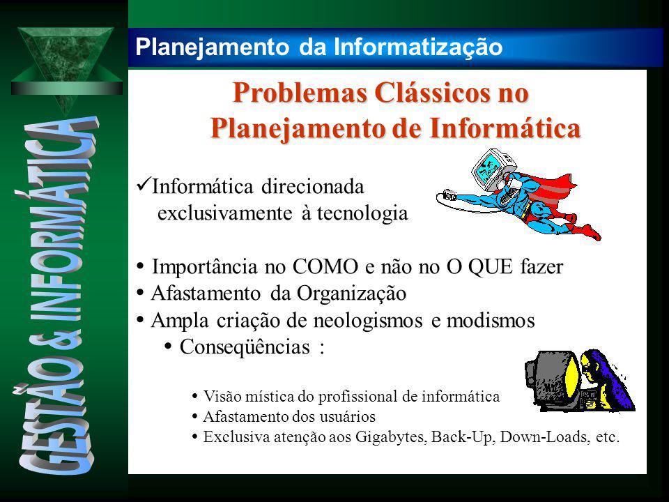 Problemas Clássicos no Problemas Clássicos no Planejamento de Informática Planejamento de Informática Informática direcionada exclusivamente à tecnolo