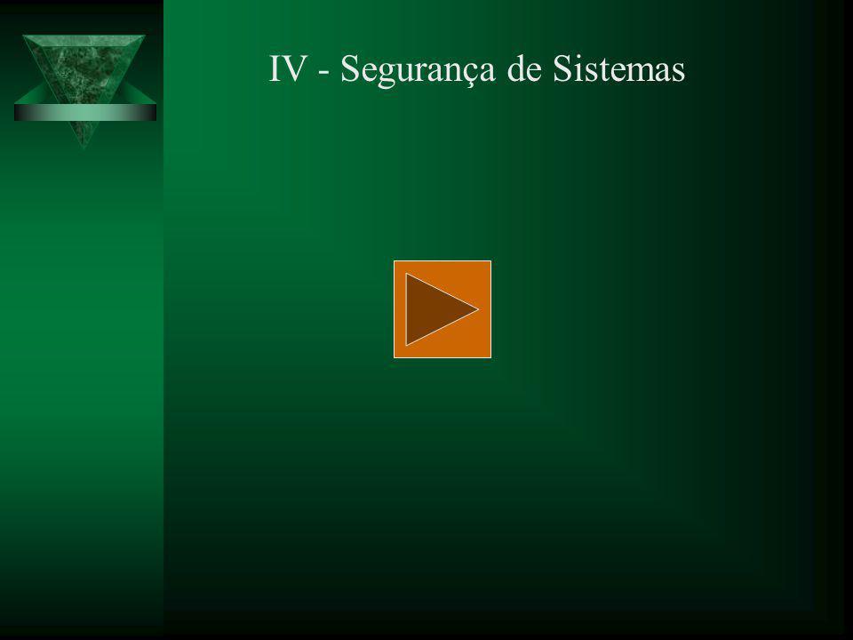IV - Segurança de Sistemas