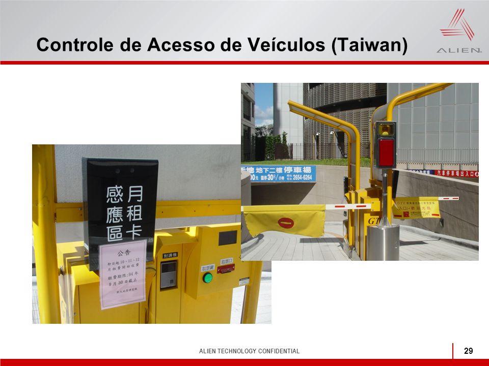 ALIEN TECHNOLOGY CONFIDENTIAL 29 Controle de Acesso de Veículos (Taiwan)