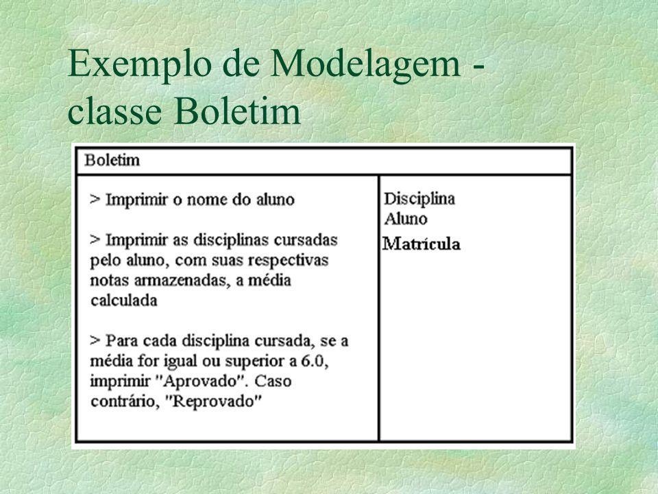 Exemplo de Modelagem - classe Boletim
