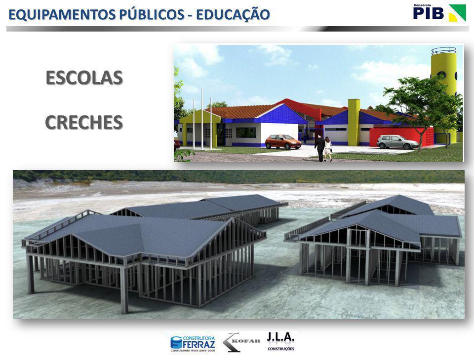 EQUIPAMENTOS PÚBLICOS - EDUCAÇÃO CRECHES ESCOLAS