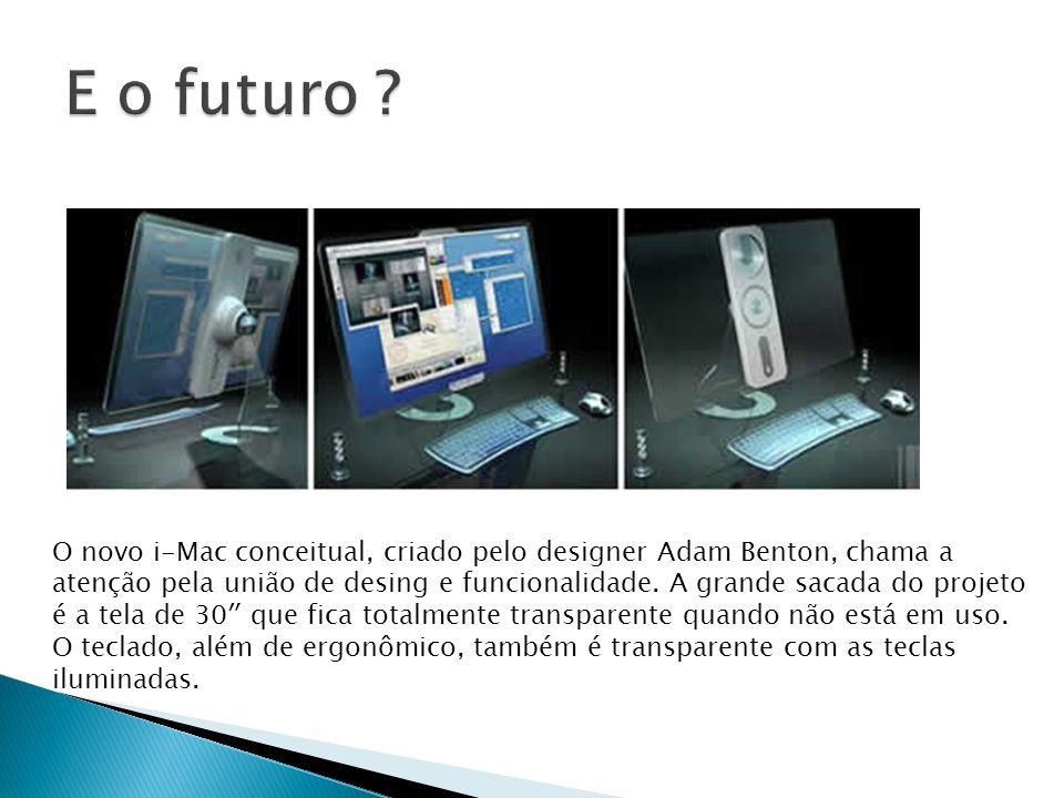 O novo i-Mac conceitual, criado pelo designer Adam Benton, chama a atenção pela união de desing e funcionalidade.