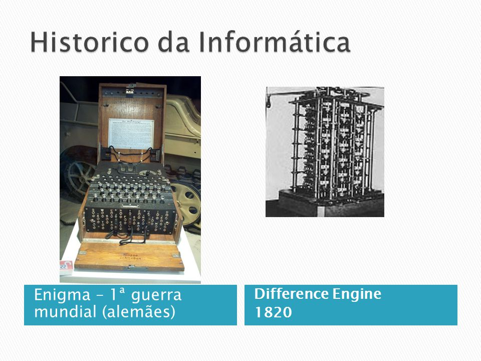 Enigma – 1ª guerra mundial (alemães) Difference Engine 1820