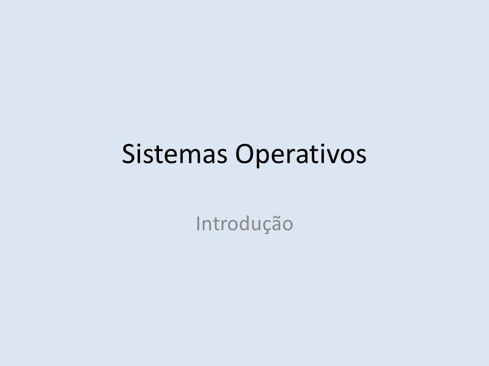 Sistemas Operativos Introdução