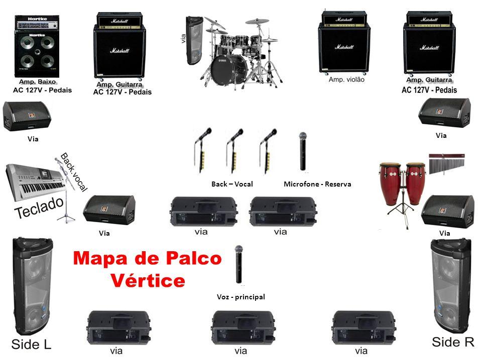 Mapa de Palco Vértice Back – Vocal Voz - principal Microfone - Reserva Via