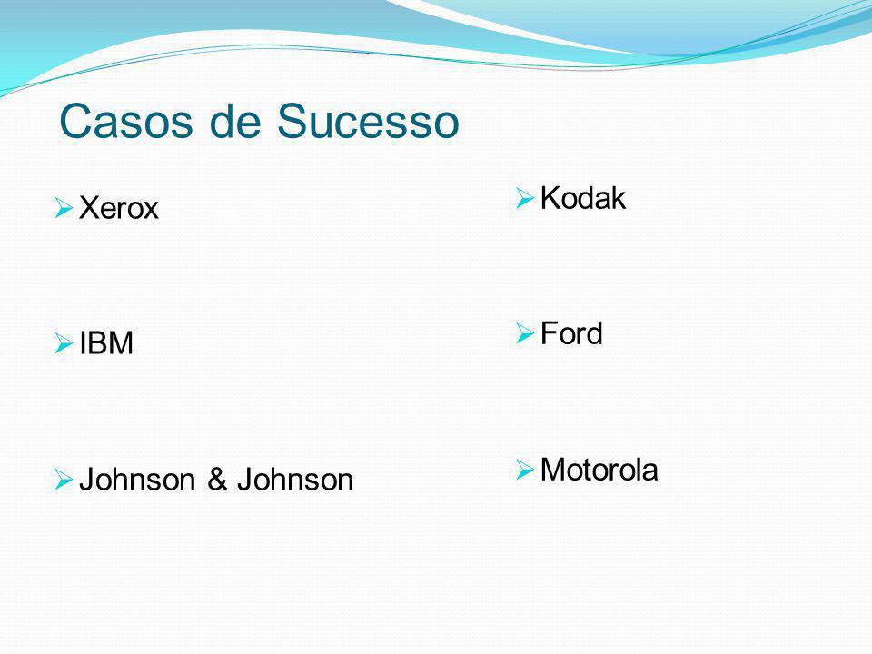 Casos de Sucesso  Xerox  IBM  Johnson & Johnson  Kodak  Ford  Motorola