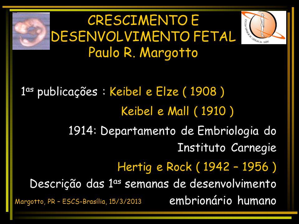 CRESCIMENTO E DESENVOLVIMENTO FETAL DESENVOLVIMENTO HUMANO Margotto, PR - ESCS