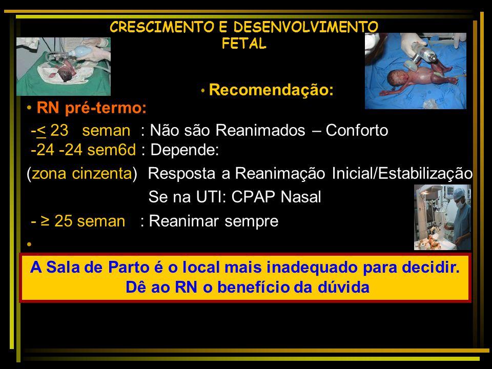 CRESCIMENTO E DESENVOLVIMENTO FETAL 28sem-515g Eco cerebral:Normal 29sem-1370g-21 dias Eco cerebral:leucomalácia Margotto,PR, 2012 PROGNÓSTICO
