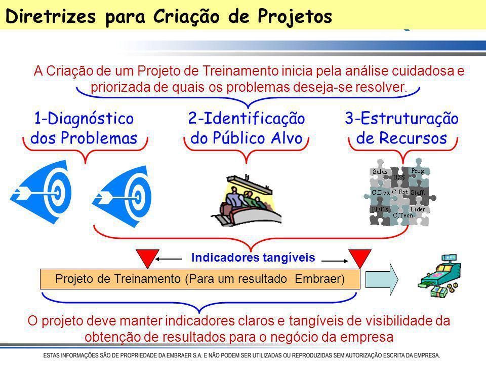 Catálogo EMBRAER Projeto de Capacitação da Engenharia (aderência com Road Map e PA) Cursos de Tecnologia Projeto de Desenvolvimento da Liderança Metas