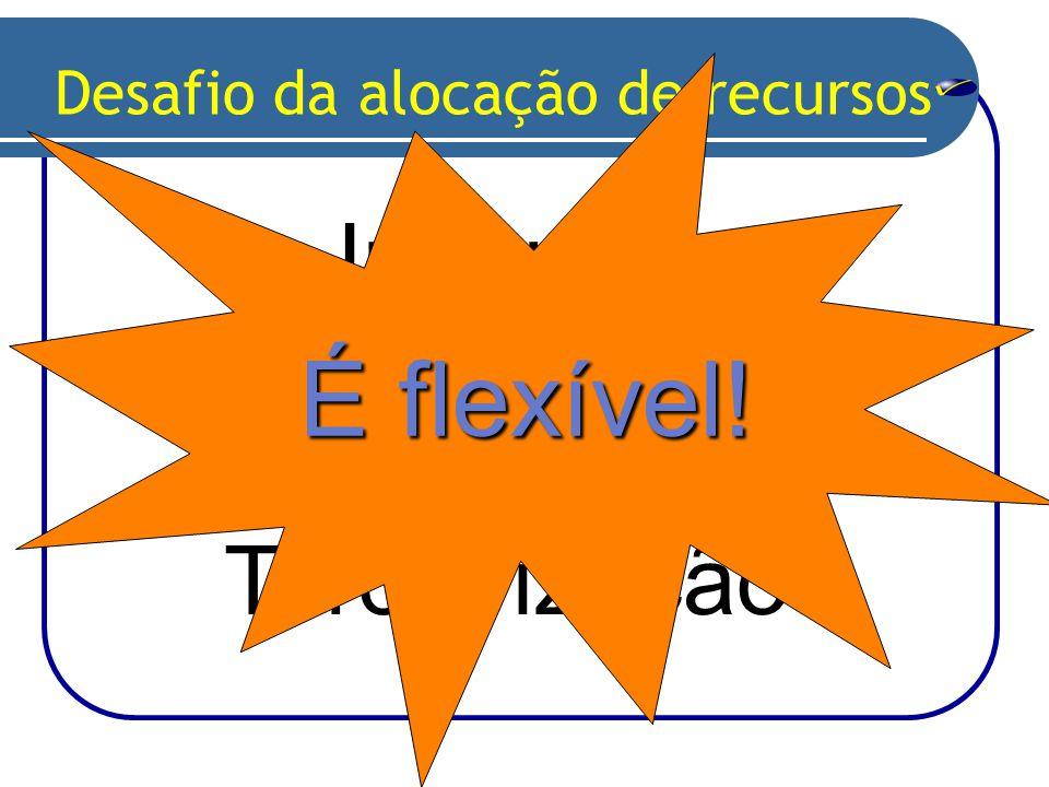 Inhouse x Terceirização Desafio da alocação de recursos É flexível!