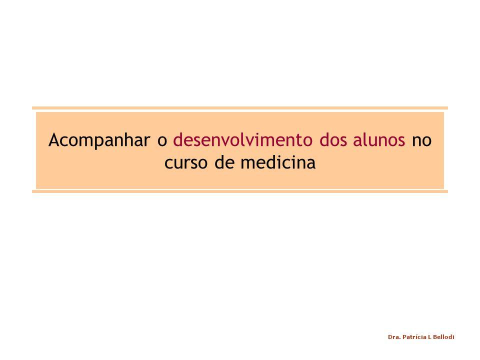Acompanhar o desenvolvimento dos alunos no curso de medicina Dra. Patrícia L Bellodi
