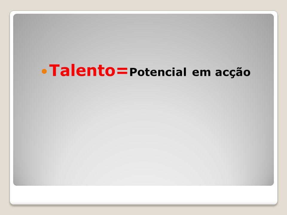 Talento= Potencial em acção