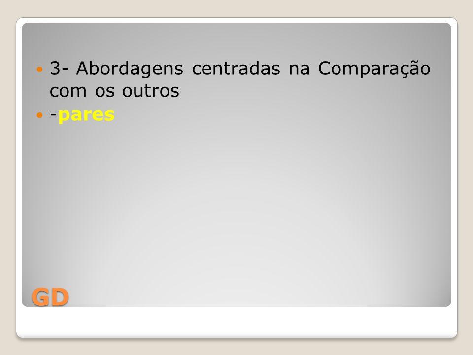 GD 3- Abordagens centradas na Comparação com os outros -pares