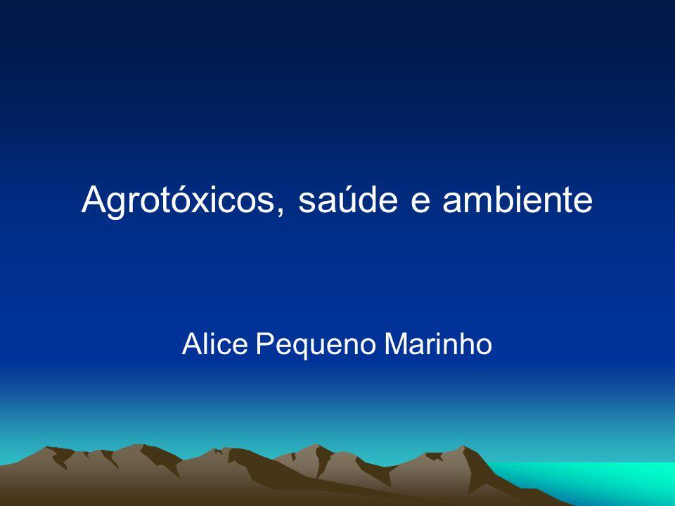 Agrotóxicos em alimentos Das 3.130 amostras - 907 (29,0%) insatisfatórias, correspondendo a 15 das 20 culturas monitoradas.