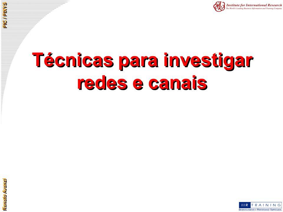 Renato Avanzi PIC / PIXYS Técnicas para investigar redes e canais