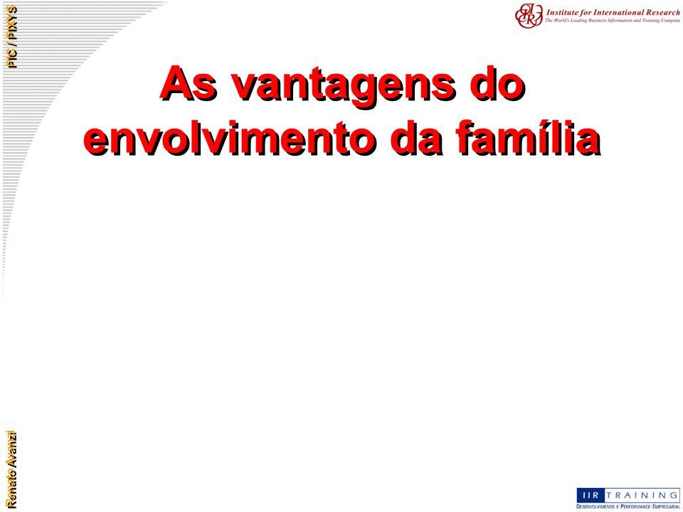 Renato Avanzi PIC / PIXYS As vantagens do envolvimento da família