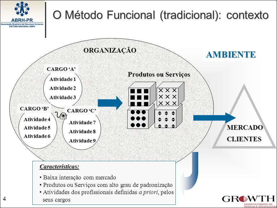 Produtos ou Serviços ORGANIZAÇÃO AMBIENTE             Profissionais interagem de forma dinâmica na busca por soluções Configurados em função das sinalizações do ambiente, estratégias organizacionais e competências Interação freqüente e intensa MERCADOCLIENTES P1 P2 P3 Influências do AmbienteContexto 5