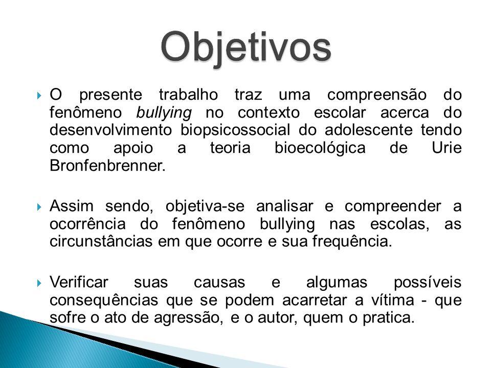 """""""De que forma o bullying influencia e impacta no desenvolvimento do ser humano?"""""""