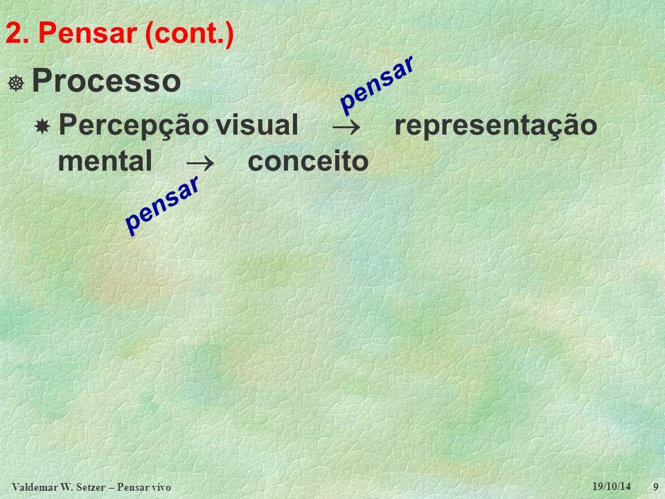 7.Pensar vivo social (cont.)  Como desenvolver um pensar vivo social.