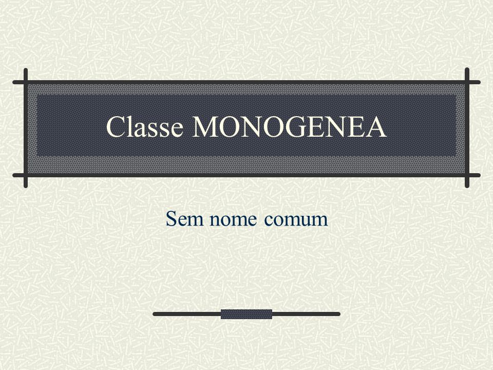 Classe MONOGENEA Cerca de 1.100 spp.