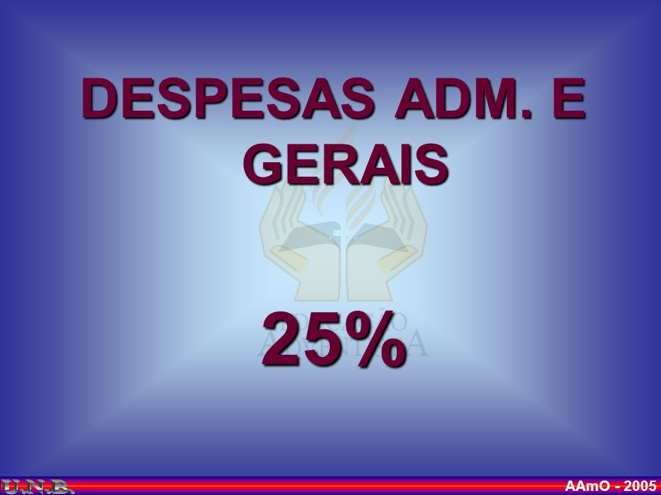 DESPESAS ADM. E GERAIS 25%