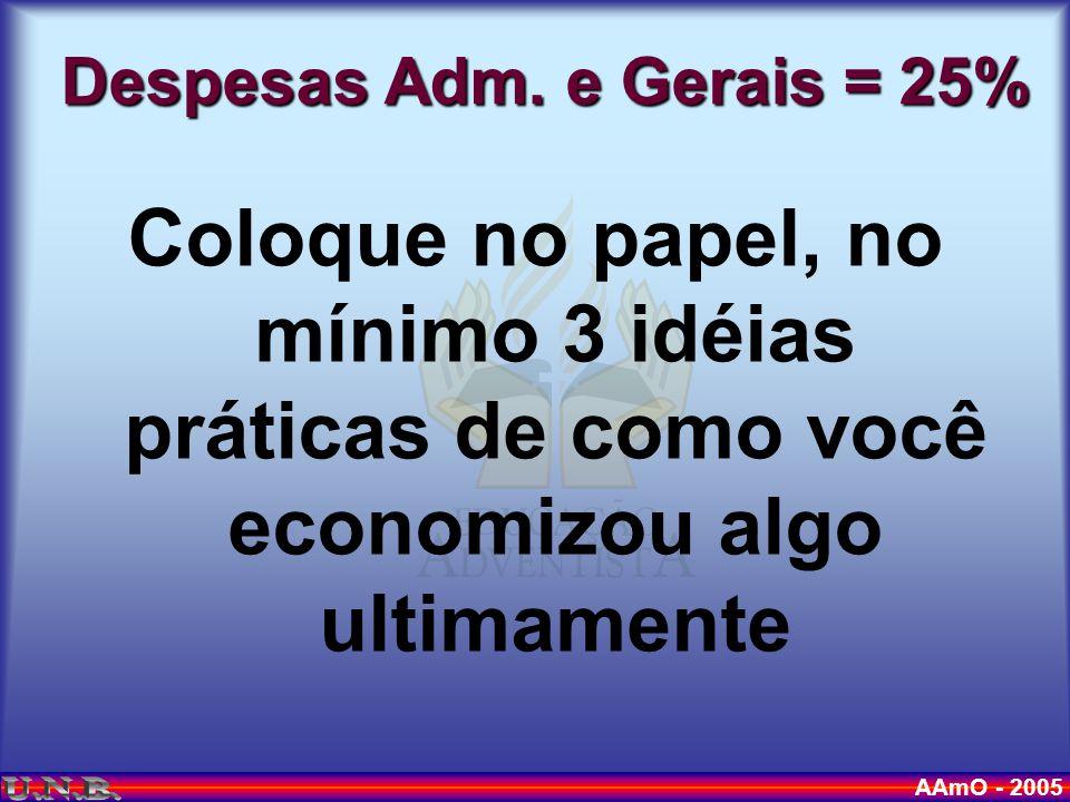 AAmO - 2005 Despesas Adm.