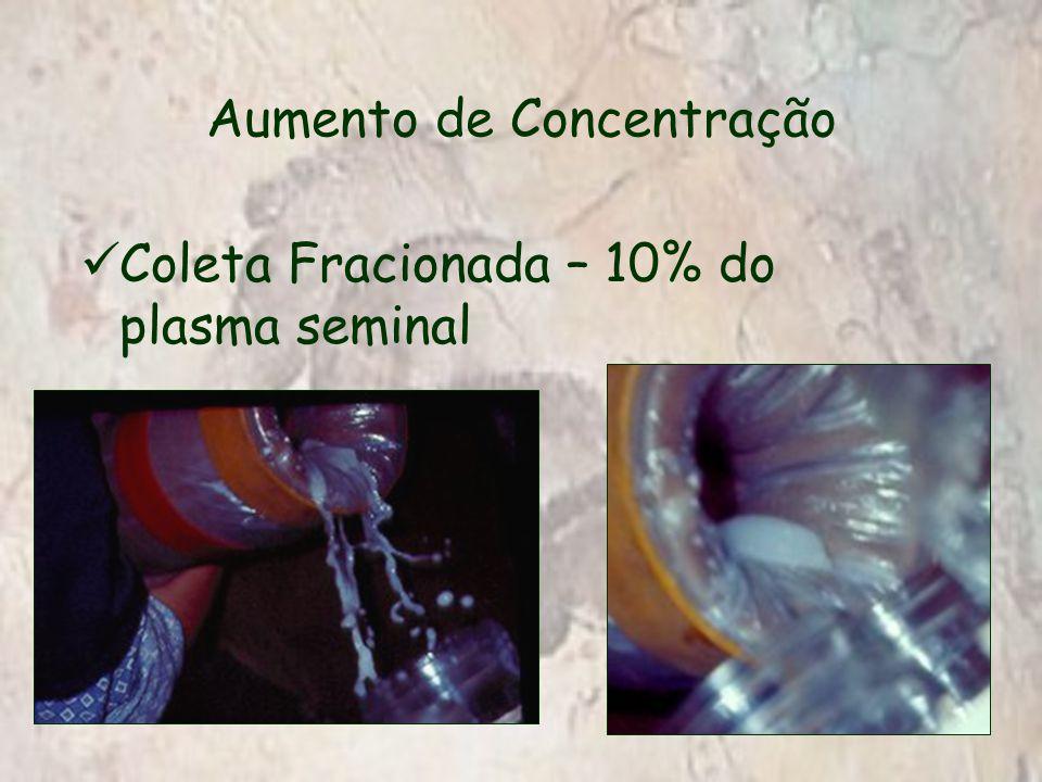 Aumento de Concentração Coleta Fracionada – 10% do plasma seminal