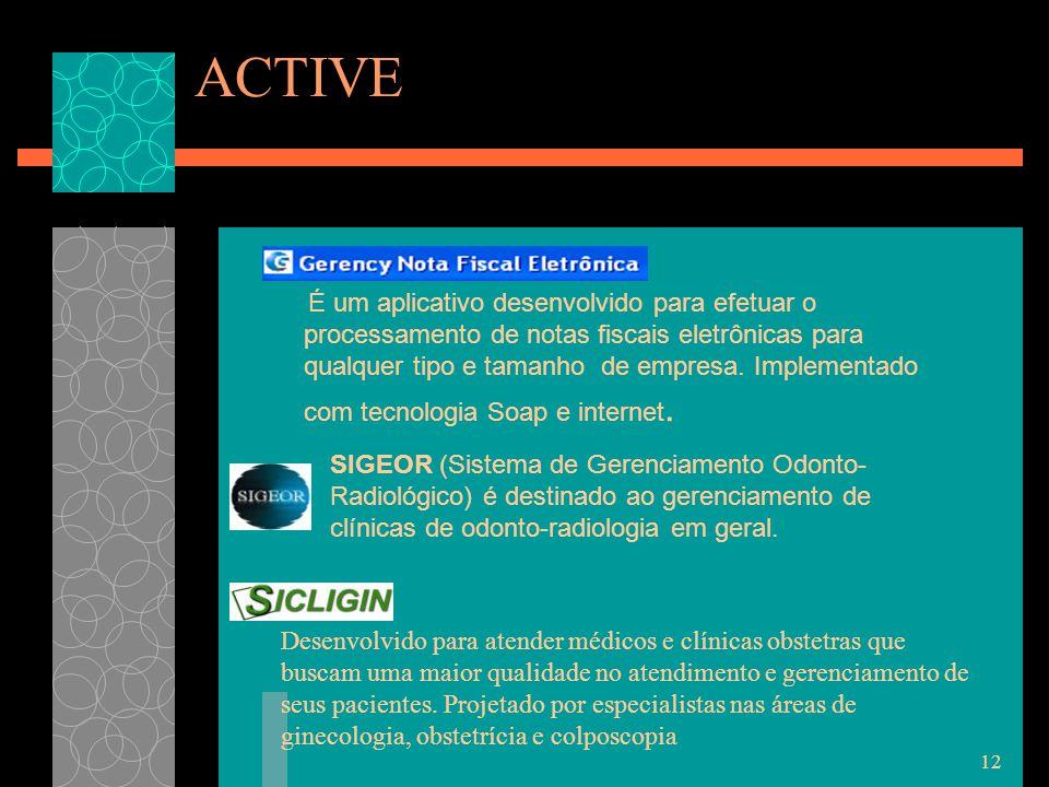 ACTIVE É um aplicativo desenvolvido para efetuar o processamento de notas fiscais eletrônicas para qualquer tipo e tamanho de empresa.