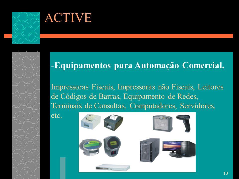 13 ACTIVE -Equipamentos para Automação Comercial.
