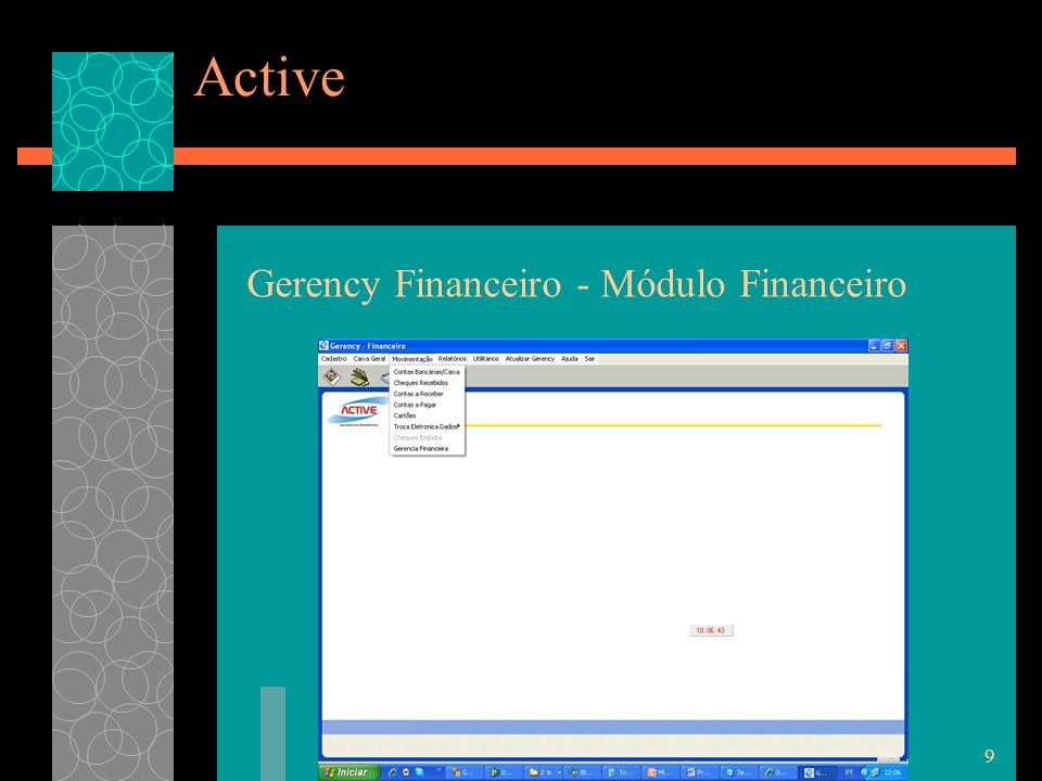 9 Active Gerency Financeiro - Módulo Financeiro