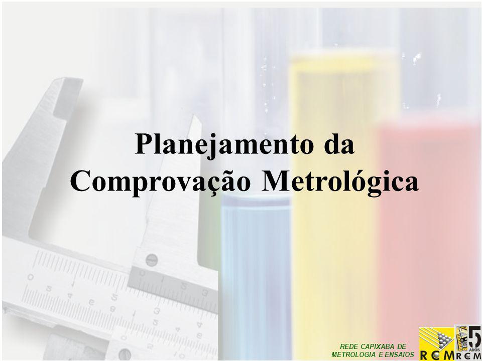 REDE CAPIXABA DE METROLOGIA E ENSAIOS Planejamento da Comprovação Metrológica