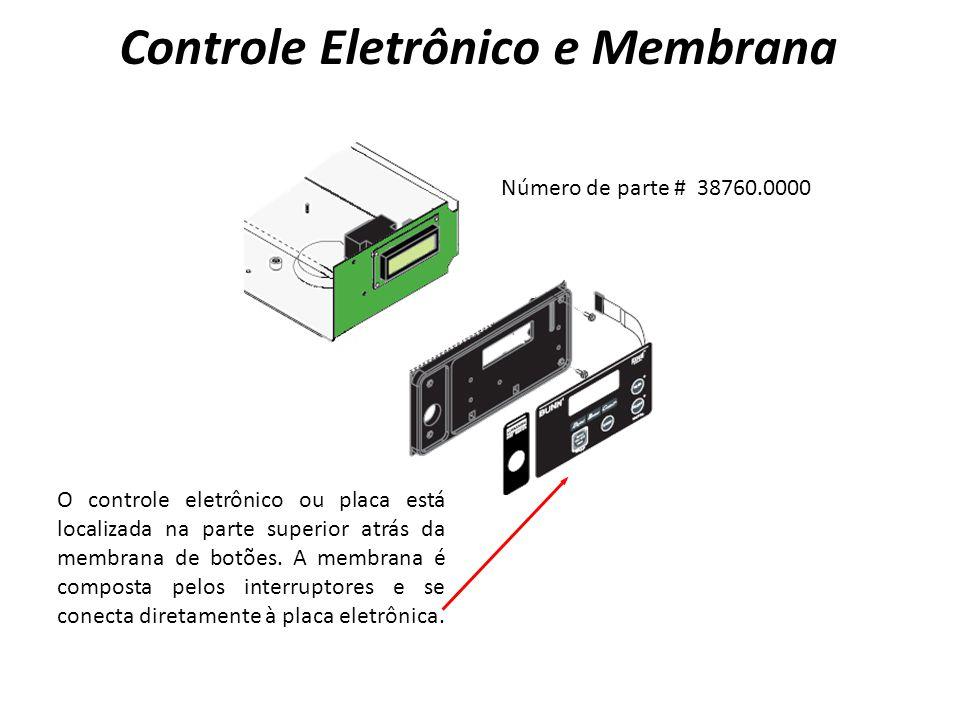 K1 U4 O controle eletrônico ou placa está localizada na parte superior atrás da membrana de botões.