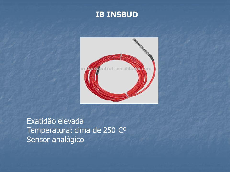IB INSBUD Exatidão elevada Temperatura: cima de 250 Cº Sensor analógico