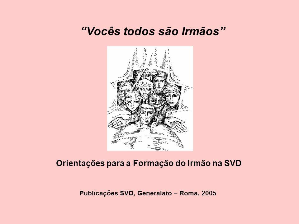 Vocês todos são Irmãos Orientações para a Formação do Irmão na SVD Publicações SVD, Generalato – Roma, 2005