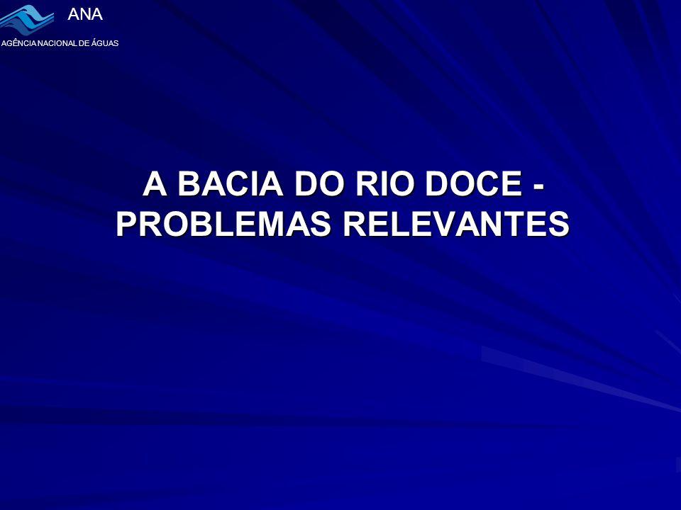 ANA AGÊNCIA NACIONAL DE ÁGUAS A BACIA DO RIO DOCE - PROBLEMAS RELEVANTES