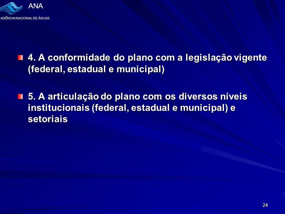 ANA AGÊNCIA NACIONAL DE ÁGUAS 24 4.