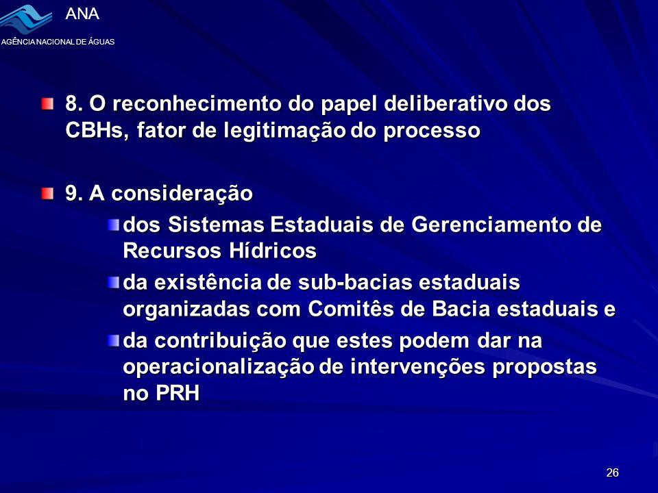ANA AGÊNCIA NACIONAL DE ÁGUAS 26 8.
